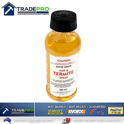 Termite Ant Cockroach Spray 500ml PRO Permethrin Genuine David Grays Pest Killer
