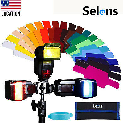 20 Color Gels Diffuser Filter Kit for Canon Nikon Godox Yongnuo Flash Speedlite