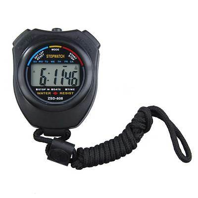 Lcd Professional Handheld Stop Watch Stopwatch Chronograph Counter Sports Timer