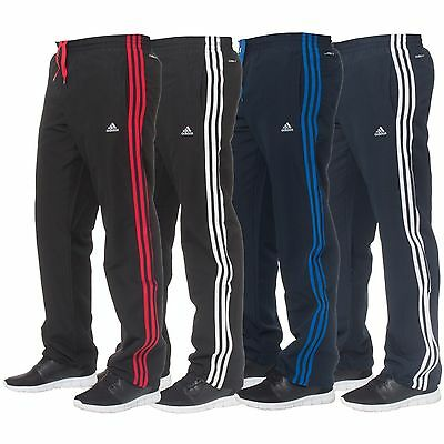 Adidas Climalite Mens Classic 3 Stripe Tracksuit Bottoms Gym Joggers Track Pants