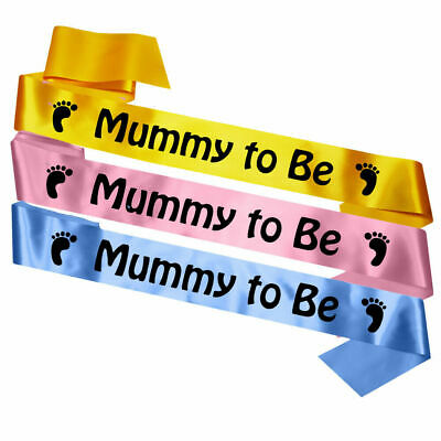 Baby Shower Mummy To Be Sash Sashes Multiple Colours New Present Gift
