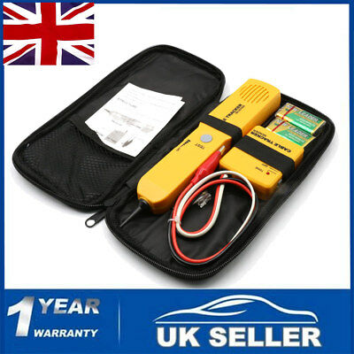 New Network Cable Telephone Wire Line LAN Cable RJ11 Toner Tracer Tester Tracker