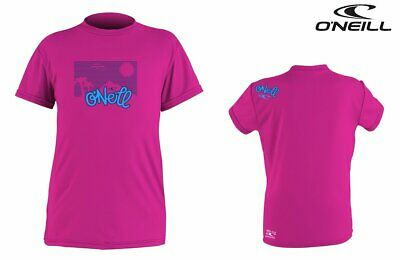 O'NEILL Youth Toddler Kinder UV Rash Tee Guard Lycra Shirt Berry