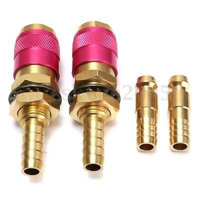 2 Sets M8 Quick Release Coupling Connector Adaptor Gas For Tig Welding Torch