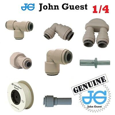 "1/4"" John Guest Pushfit Pneumatic Fittings For Water Air Vacuum Filter Pump Pipe"