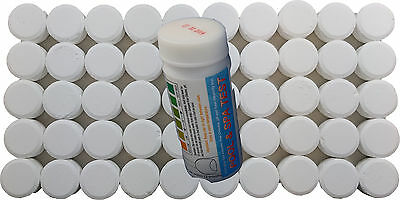 50x20g Chlorine Tablets for Pools, Hot Tubs, Spas + 20 Testing strips