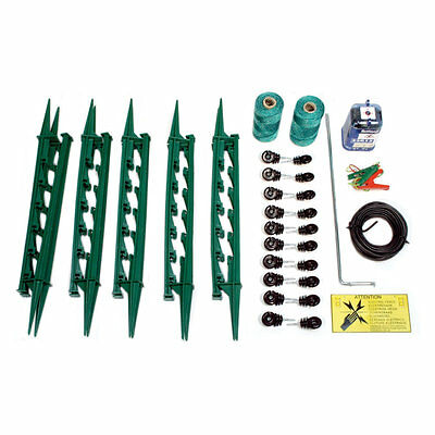 Rutland 200m Garden Electric Fence Kit Dog Cat Pond Safe Garden, ESB15 Energiser