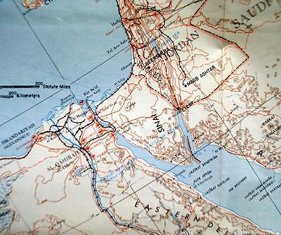 Middle East Map & Area Study Guide U.s. Army  1964 Vintage Vietnam War Era