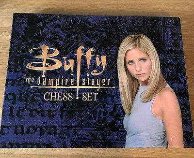 Buffy The Vampire Slayer Chess Set Complete Vintage Rare Collectable FAST POST