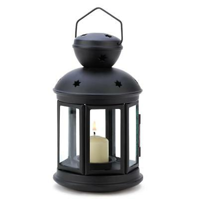 Gifts & Decor Black Colonial Style Candle Holder Hanging Lantern Lamp, New, Free