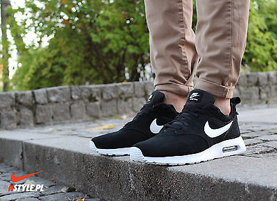 NEW NIKE AIR Max Tavas Leather Suede Black White Mens Shoes