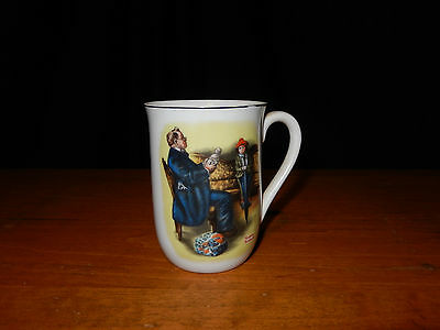 Norman Rockwell Tea Cup - A Hopeless Case - 1982