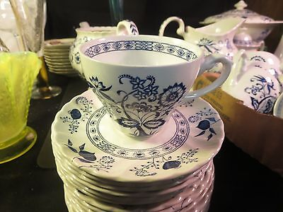 J & G Meakin Blue Nordic Cup & Saucer