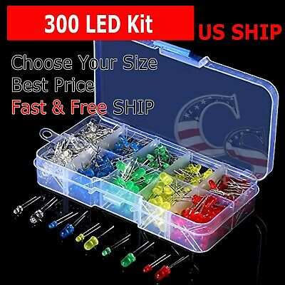 150 pcs 3mm 5mm LED Light White Yellow Red Green Assortment Kit DIY For Arduino