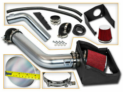 Heat Shield Cold Air Intake System + RED Filter for 09-10 Ford F150 5.4L V8