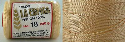 Omega Nylon Crochet Thread Size 18 - Straw/Corn Color #14