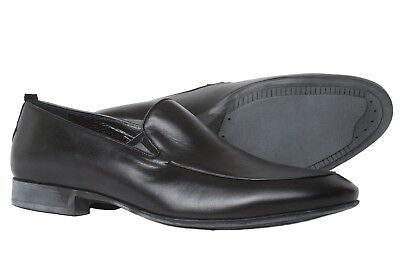 Rossi 1386PR Men's Black Leather Slip On Shoes