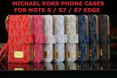 Michael Kors Phone Leather Luxury Wallet Case Samsung Galaxy Note 5 S7 Edge 7