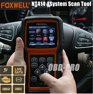 FOXWELL NT414 Engine ABS SRS Transmission + EPB Oil Reset Diagnostic Scan Tool