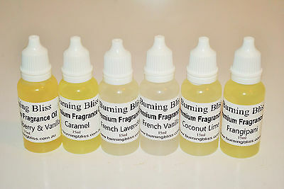 6 x 10ml Premium Fragrance Oils SAMPLE PACK BEST SELLERS Soap,Candles,Diffusers