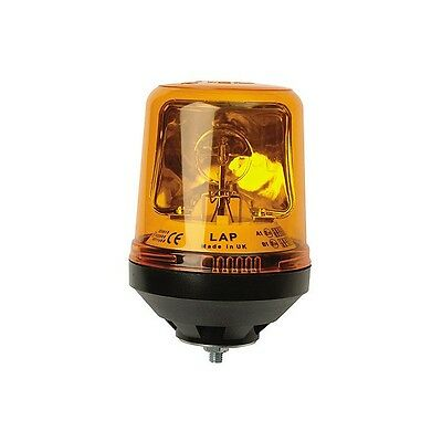 Single Bolt Rotating Safety Beacon Amber 12/24v LAP122 - Replaces Lucas LBB122