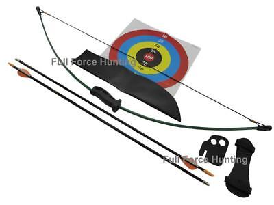 Bear 1st Shot Youth Recurve Archery Kids Target Bow Arrows Longbow Set Hunting