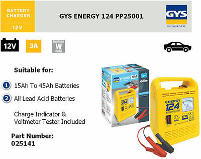 GYS Energy 124 Manual Battery Charger 12V