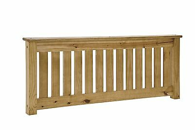 Shaker 4ft Small Double Headboard, Antique finish, Solid Pine, SECONDS