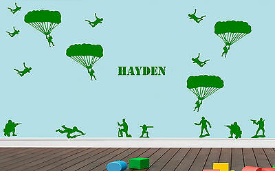 Toy Story style set army men Andy's Bedroom Wall Sticker Decal kids personalised