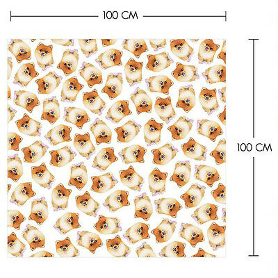 Sketch POMERANIAN Printed On Square Chiffon Scarf Dog Lover/Collection/Gift