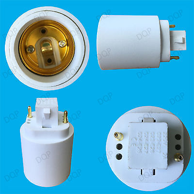 GX24 To ES E27 Edison Screw Light Bulb Socket Converter Adapter Holder