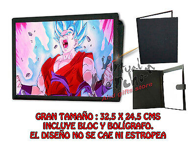 CARPETA DRAGON BALL KAITO GOKU LONETA NEGRA FOLDER bloc es