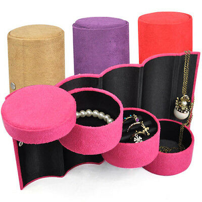 Bracelet Ring Necklace Earring Display Stand Travel Box Jewelry Storage DM