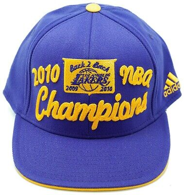 Los Angeles Lakers Men NBA Basketball 2010 Champions Back to Back Cap Adidas Hat