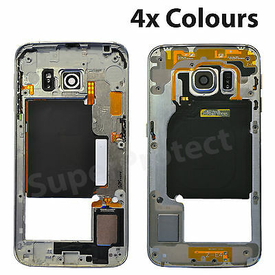 Genuine Samsung Galaxy S6 Edge G925F Mid Frame Bezel Chassis Metal Replacement