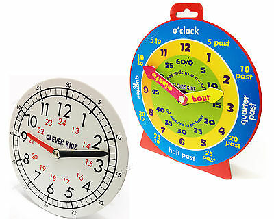 Teaching Clock Kids Learning Time Teacher Aid School /Home/Nursery 2 Design New