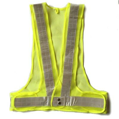 XXL High Visibility Safety Mesh Yellow Vest with Reflective Strip ANSI Waistcoat