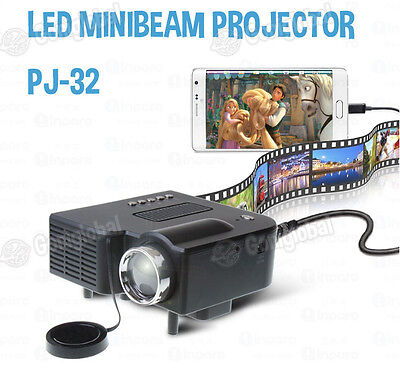 Inparo LED MiniBeam Projector PJ-32 / Various Input Source / Wide Screen / 16:9