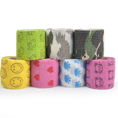 Cute Pet Horse Dog Vet Non Woven Wound Cohesive Bandage Self Adherent Wrap Tape