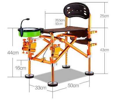Folding portable fishing chair with high load bearing delivery and storage bag