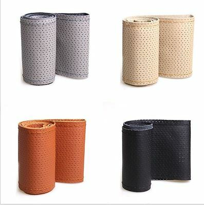 Universal Perforated Leather Car Steering Wheel Cover Glove Comfortable