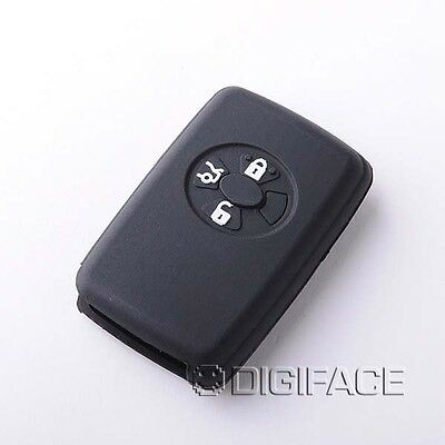 Black Silicone Car Key Case For Toyota Auris Avensis Camry Carina Celica Corolla