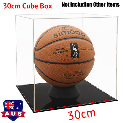 AU Acrylic Clear Perspex 30cm Cube Big Display Box Case Plastic Base Dustproof