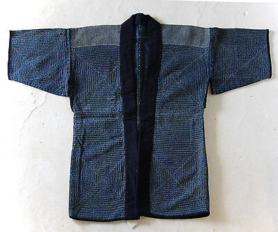 Japanese Antiques- Indigo Sashiko Jacket Noragi from 19th century