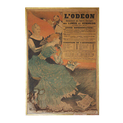 Antique pre 1900 posters art 302 items picclick uk for Miroir projector best buy