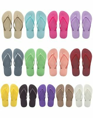 Havaianas Slim Brazil Women's Flip Flops All Sizes Gold,Black,Purple,White...