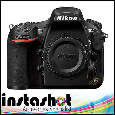 Nikon D810 36.3MP Digital SLR Camera - Black (Body Only) - 3 YEAR WARRANTY
