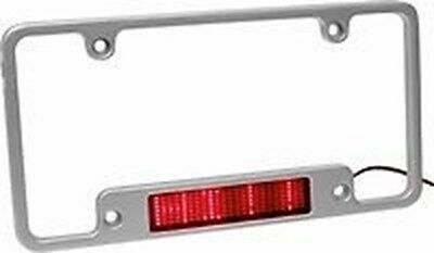 Aluminum Red LED Moving Scrolling Message License Plate Frame