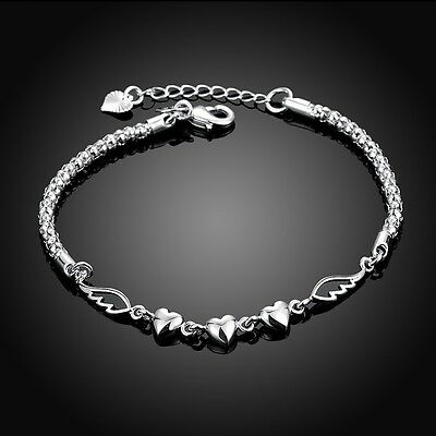 925 Silver Plated Bangle Cool Charm Jewelry Chain Top Bracelet Beads Cute Chic r