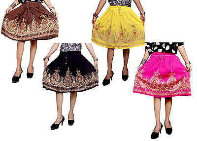 5pcs-100pcs Embroidered Boho Hippie Gypsy Sequin Work Short Skirts Wholesale Lot
